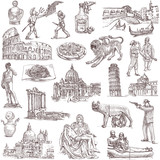 Italy - Full sized hand drawn illustrations