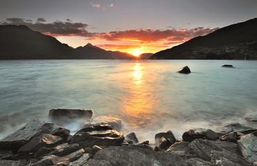 Sunset at Queenstown, New Zealand