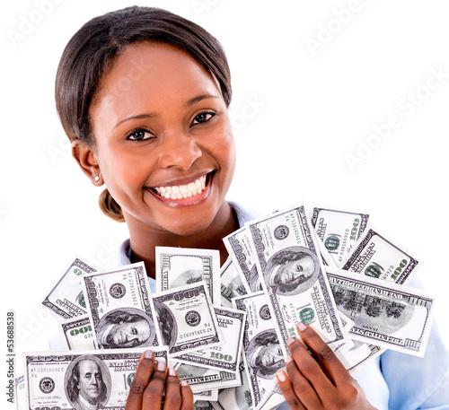 Rich business woman
