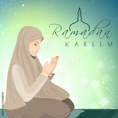 Concept for Muslim community Holy Month of Ramadan Kareem.
