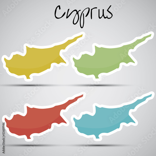 stickers in form of Cyprus