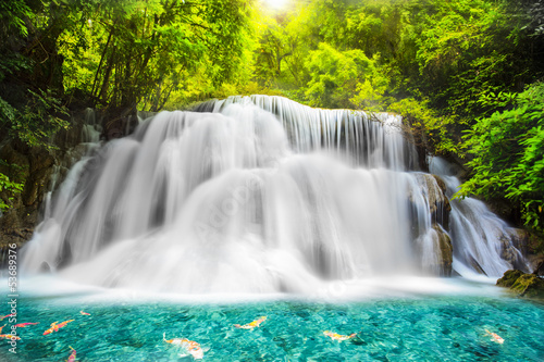 Naklejka Huai Mae kamień Wodospad