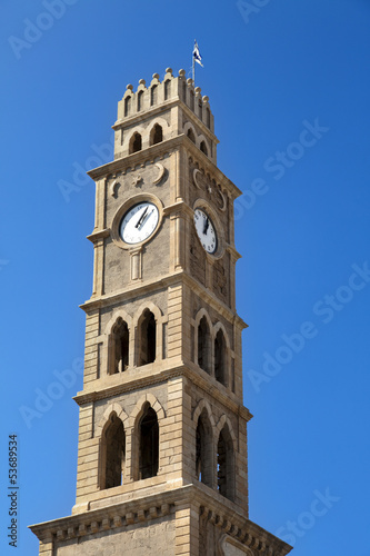 Clock Tower in Acco
