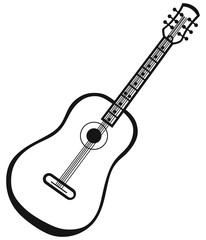 Guitar isolated on white background