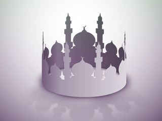 Creative illustration of a mosque for Ramadan Kareem.