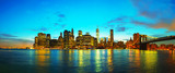 Fototapety New York City cityscape at sunset