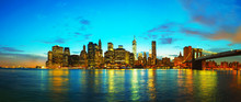 Fotomurales - New York City cityscape at sunset