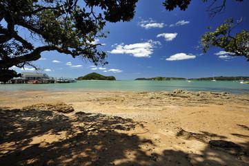 Beautiful beach near Paihia, Bay of Islands