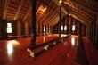 Inside the Maori tribal meeting house