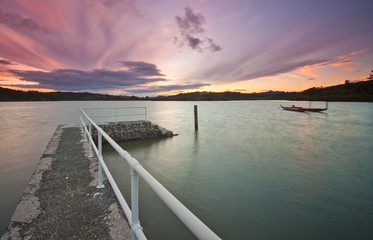 Fishing Jetty at Waitangi, New Zealand