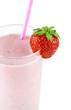 Strawberry milk smoothie
