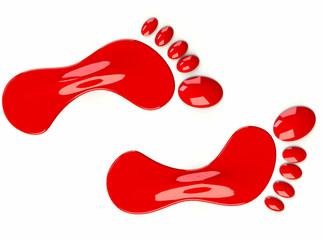 Füße Rot