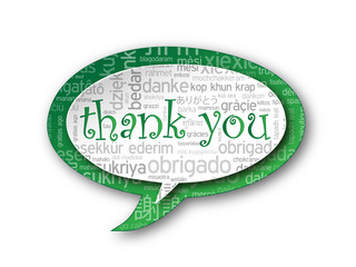 """""""THANK YOU"""" Tag Cloud (thanks a lot very much message gratitude)"""