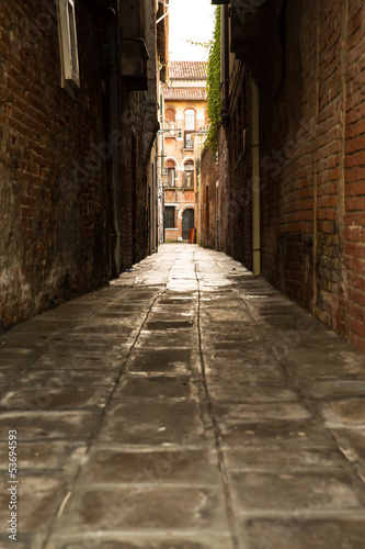 canvas print picture Strasse in Venedig