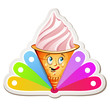 Strawberry ice cream cartoon