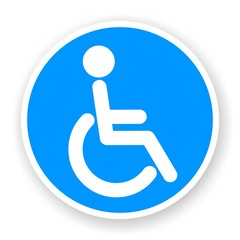 sticker of wheelchair symbol