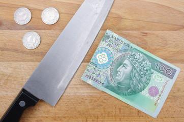 Złotówka nóż 100 PLN