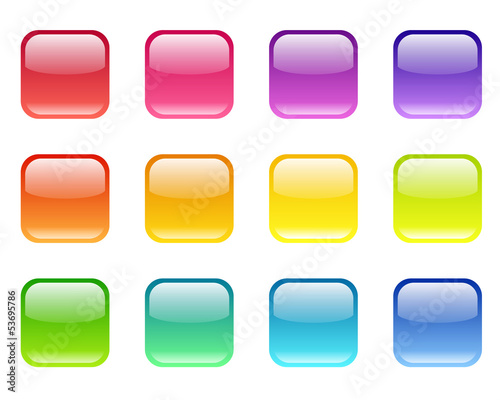 Set of colored web icons. Vector eps-10.