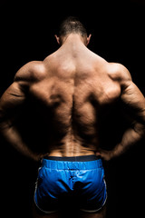 very muscular back
