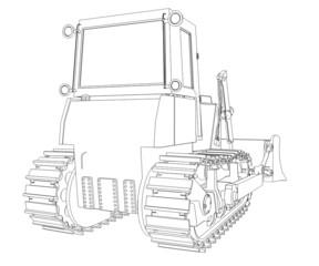 Tractor rendering in lines