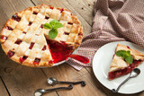 Strawberry and rhubarb pie