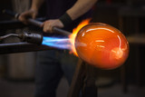 Blowtorch Flames on Glass poster
