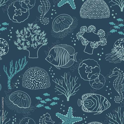 Tapeta Underwater life pattern