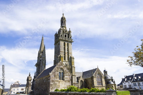 Gothic church in Brittany, France