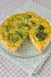 Curry Brokkoli Quiche