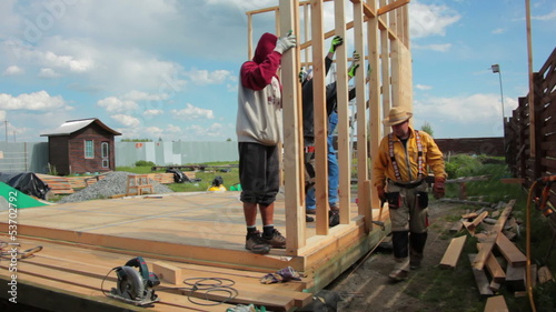 Building of a Framework House