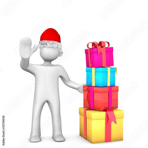 Manikin Santa Gifts
