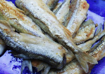 fried small smelt fish