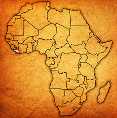 liberia on actual map of africa