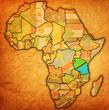 Fototapeten,tansania,afrika,tatsächlich,landkarte