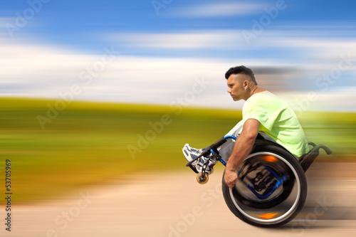 Bewegung aktiver Rollstuhlfahrer