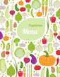 restaurant menu design. healthy vegetables