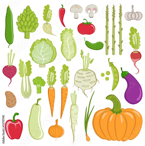 set of healthy vegetables