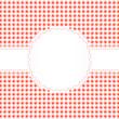 Banderole auf Karo Muster