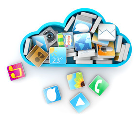 Cloud application software storage concept