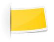 Anhänger gelb leer