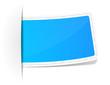 Label blau leer
