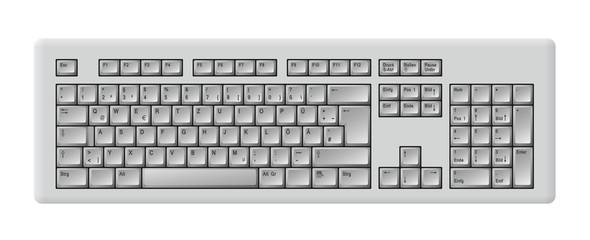 Computer Tastatur grau