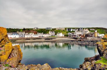 Portpatrick harbour framed by rocks