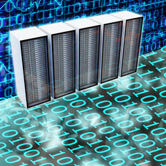 Server Racks - 3D Render