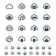 Cloud computing icons