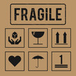 vector fragile signs