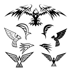 Bird Symbols. A pack of bird symbols. Vector EPS10 file.