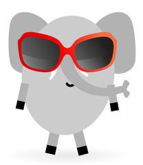 Elefant mit Sonnenbrille