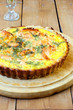 Salmon and dill quiche