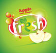 banner with slices of apple and the words Fresh